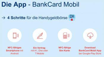 Die Bankkarte als App im Handy wird von den drei großen Mobilfunk-Anbietern Österreichs unterstützt: A1, Drei und T-MobileErste Bank und Sparkassen