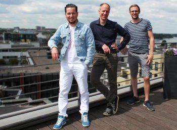 V.l.n.r.: Helden Florian Herbst, Florian Knörrich und Jan Louis SchmidtHaftpflicht Helden