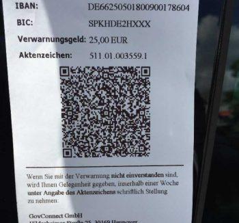 Künftig möglich: Knöllchen schnell per QR-Code bezahlenGovConnect