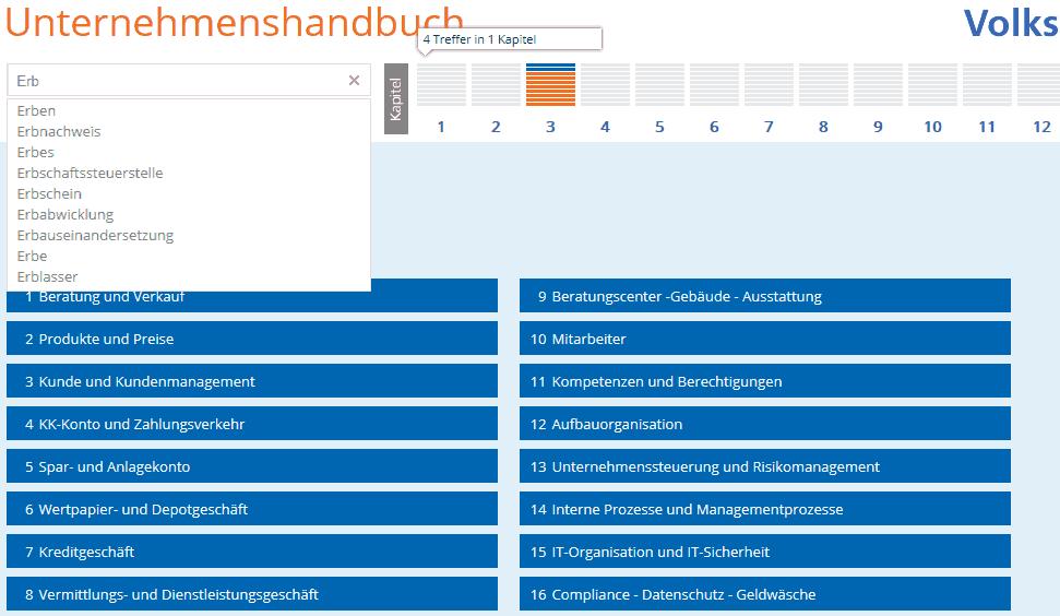 Beispiel: Anzeige Volltextsuche mit Auto-VervollständigungVolksbank Bühl
