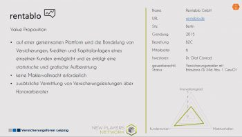 InsurTech-Vorstellung auf New Players NetwordVersicherungsforen Leipzig