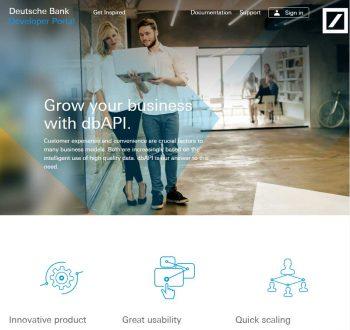 Das neue Entwickler-Portal der Deutschen Bank developer.db.com Deutsche Bank