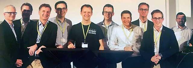 Einige Teilnehmer des Events v.l.n.r. Christian Hoppe, Mike Brewanski, Dr. Matthias Terlau, Philipp Harrschar, , Sven Korschinowski, Daniel Scheu, Burkhard Blechschmidt, Martijn van Eijk, Johann Horch, Prof. Dr. Dirk Söhnholz Sven Korschinowski