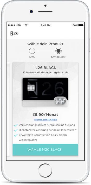 """N26 Black: Premium-Konto für """"Young-Professionals"""" mit MasterCard ..."""