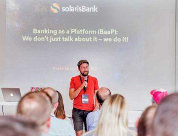 Peter Grosskopf, CTO der SolarisBank beim Postbank-MeetupPostbank