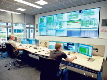 Das NOC (Leitstand/ Network Operations Center) der Finanz InformatikFinanz Informatik
