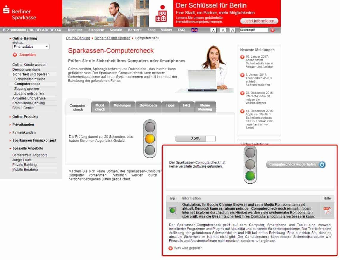 Sicherheit Der Kunden Ist Ein Thema Der Banken Berliner Sparkasse