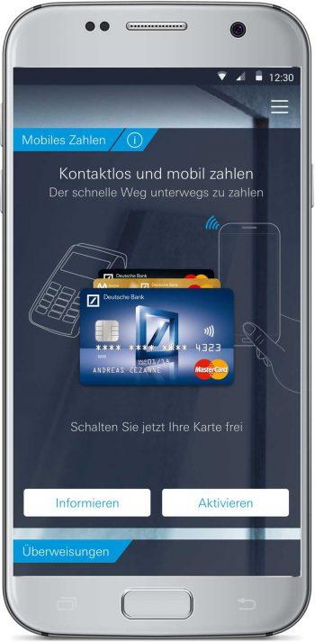 Deutsche Bank: Nahaufnahme der App