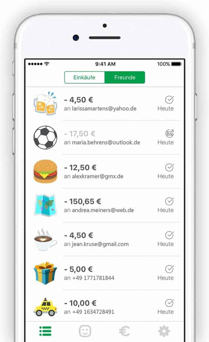 Paydirekt startet p2p dienst per smartphone schick for Wohnwand bis 200 euro