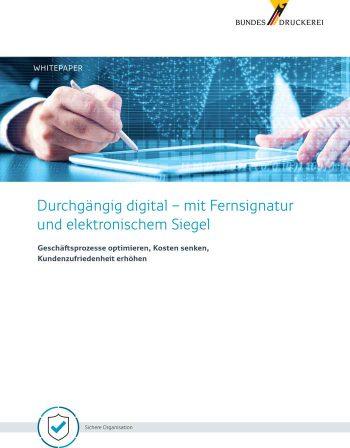Studie zur eIDAS-Konformen Unterschrift der Bundesdruckerei