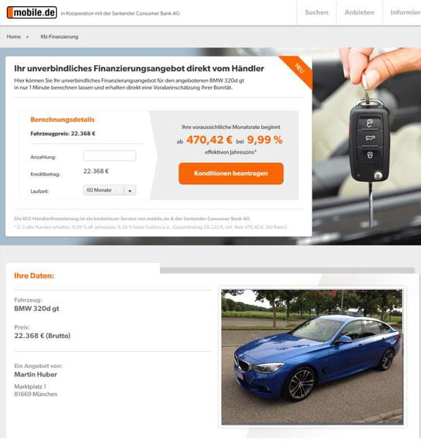 NDGIT integriert digitale Kreditstrecke bei mobile.de und bietet ...