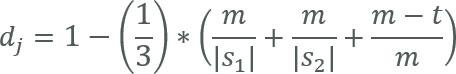 Jaro-Distanz Formel