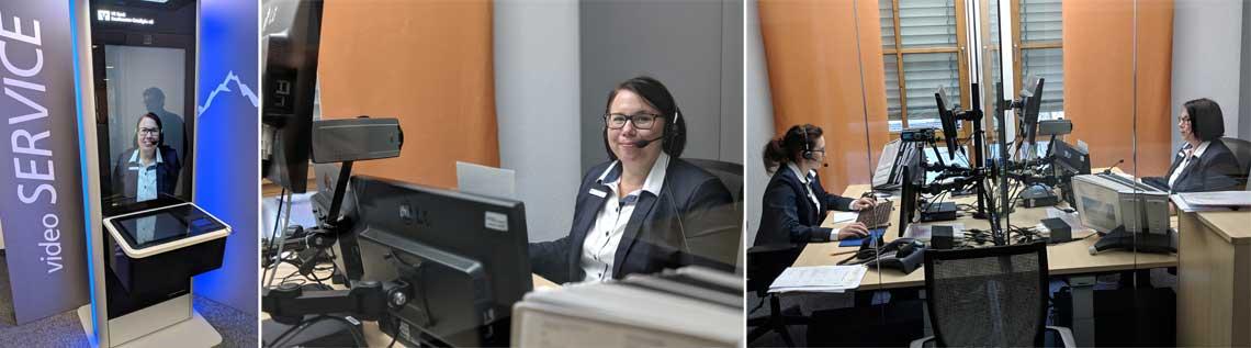 Telepräsenz-Arbeitspltz für vier Filialen