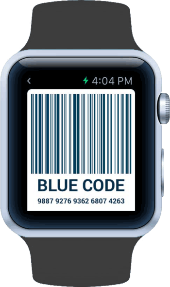 Blue Code auf der Apple Watch