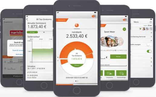 norisbank neue banking app l sst sich per siri steuern und sei weitgehend durch die kunden. Black Bedroom Furniture Sets. Home Design Ideas