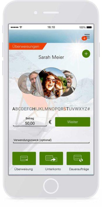 Die neue Norisbank-App