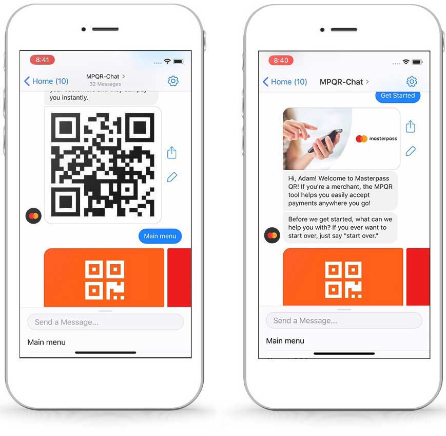 Mastercard-Zahlung per QR-Code