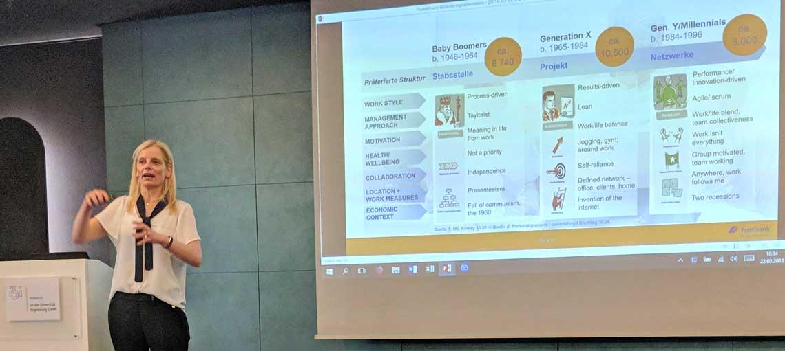 Anja Zerbin, Abteilungsleiterin Kommunikation und Digitale Trasformation der Deutschen Postbank