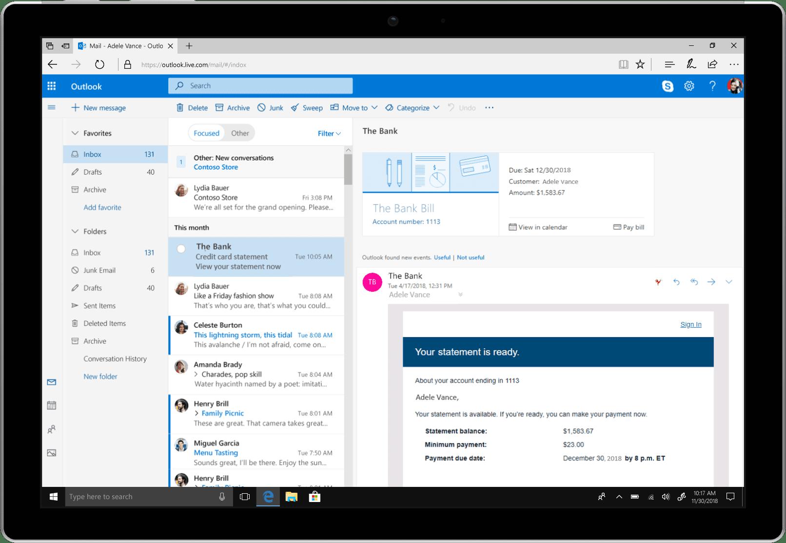 Microsoft Outlook erzeugt mittels Stripe Connect Zahlungsanweisungen zum Fälligkeitsdatum <q>Microsoft