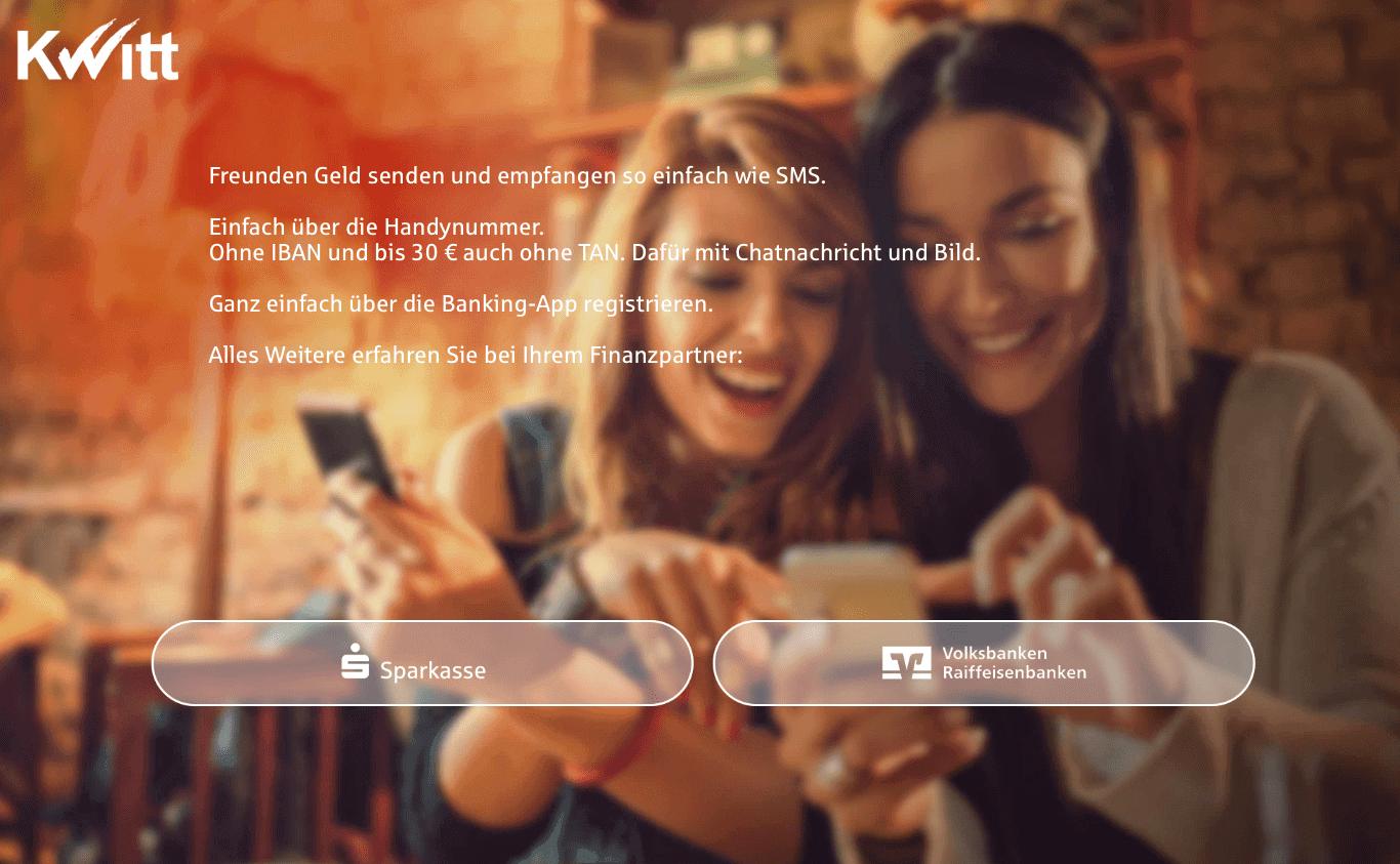 """Den Markennamen """"Kitt nutzen Sparkassen und Genossenschaftsbanken ab Anfang Juni gemeinsam."""