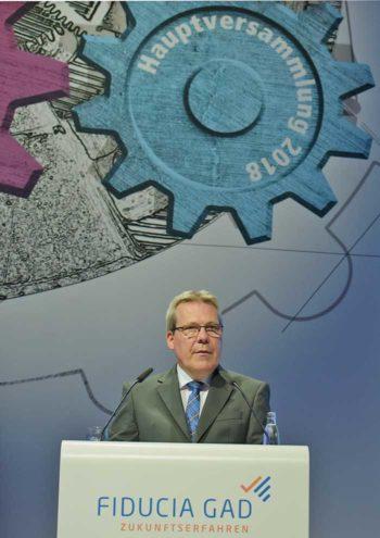 Klaus-Peter Bruns , Vorstandsvorsitzender der Fiducia & GAD IT
