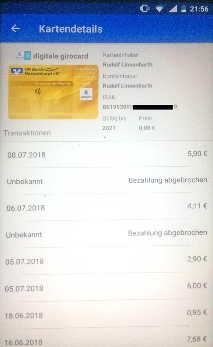 Virtuelle Kreditkarte Sofort Lastschrift