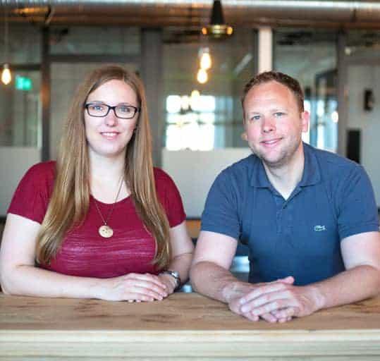 Carolin Neumann und Clas Beese, Gründer von finletter und Organisatoren der Fintech Week