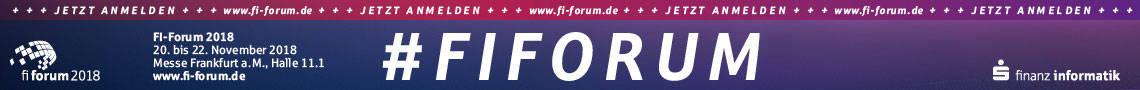 FI Forum 2018 - Jetzt anmelden!