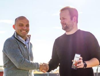 Marc Ehler, Geschäftsführer epay EMEA und Lendstar-Gründer Christopher Kampshoff