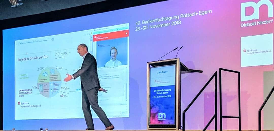 Alois Drube, Vorstandschef Sparkasse Hameln-Weserbergland auf der 49. Bankenfachtagung von Diebold-Nixdorf