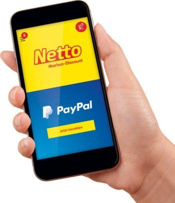 Netto-App jetzt mit PayPal
