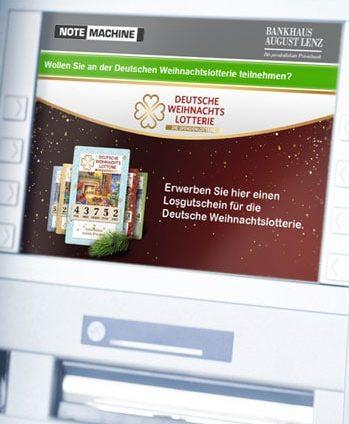 In Kooperation mit NeoLotto macht das Bankhaus August Lenz die Teilnahme an der Deutschen Weihnachtslotterie am GAA möglich.