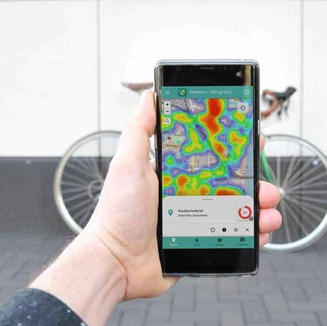 FreeYou-App zeigt, wo man sein Fahrrad besser nicht abstellt!