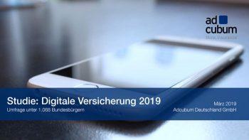"""Studie """"Digitale Versicherung 2019"""""""