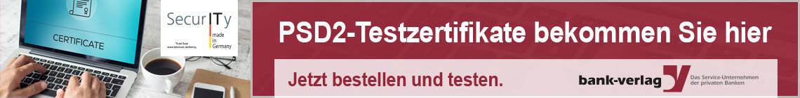 PSD2-Testzertifikate: Jetzt bestellen und testen.