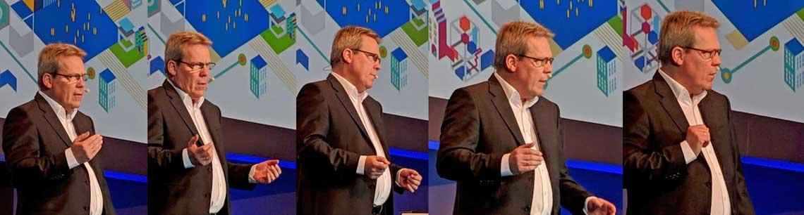 Selbstkritisch: COM19 - die Eröffnung von Klaus-Peter Bruns, Vorstandsvorsitzender der Fiducia & GAD IT