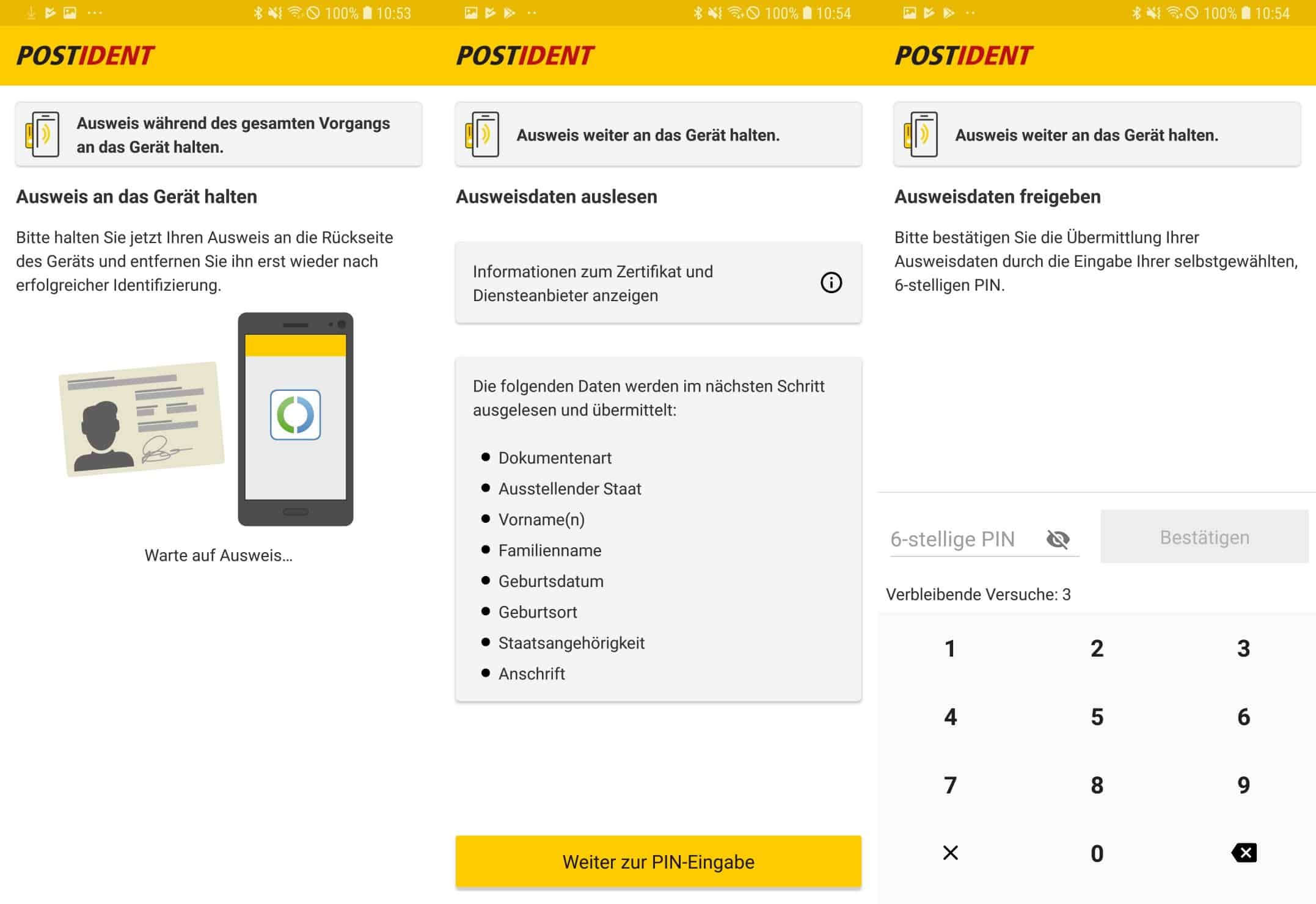 PostIdent mit Online-Ausweisfunktion