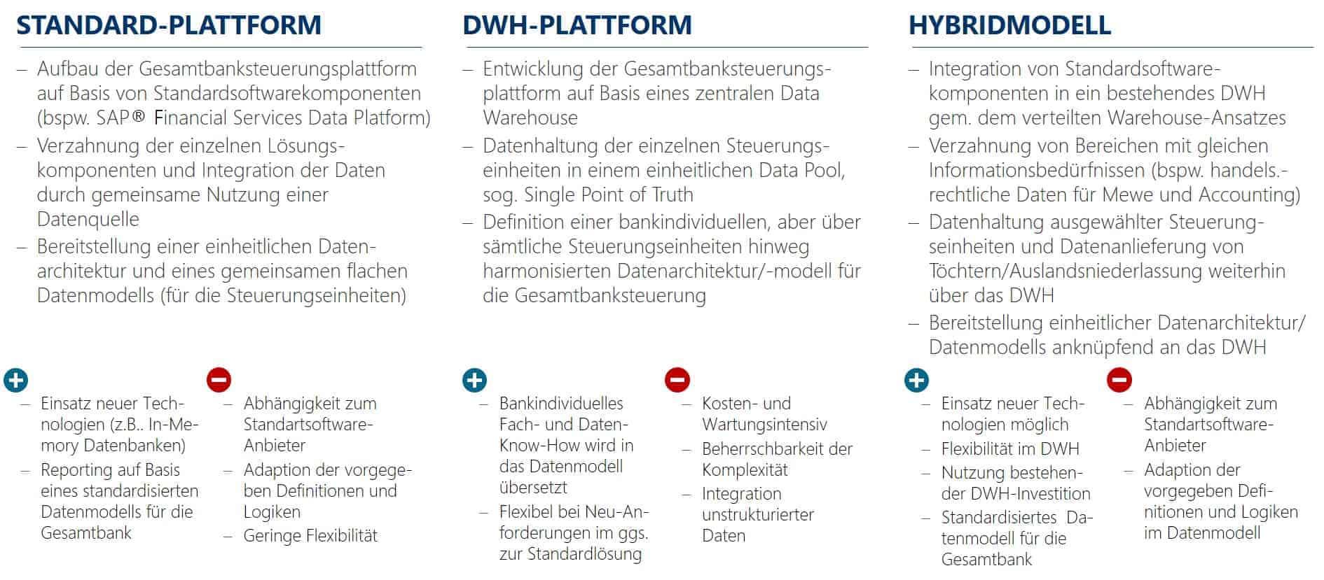Data Warehouse: Umsetzungsmöglichkeiten integrierte Steuerungsplattform