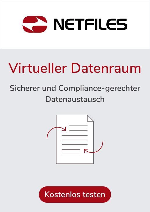 Virtueller Datenraum: Sicher und Comliance-gerechter Datenaustausch - per NETFILES
