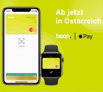boon jetzt in Österreich per boon-Mastercard und App