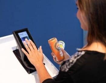 Handflächen-Scanner im Einsatz