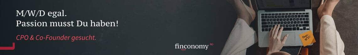 Finconomy - CPO & Co-Founder gesucht. Passion musst Du haben!