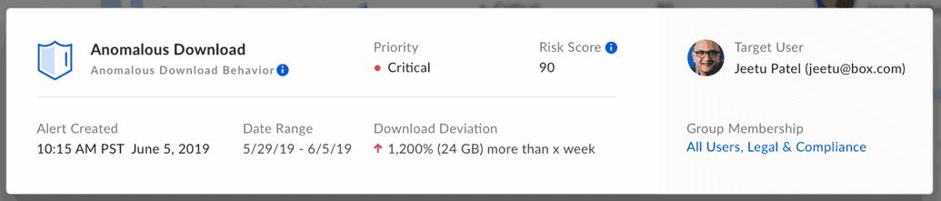 Box Shield soll per Machine Learning ungewöhnliches Verhalten entdecken und warnen.