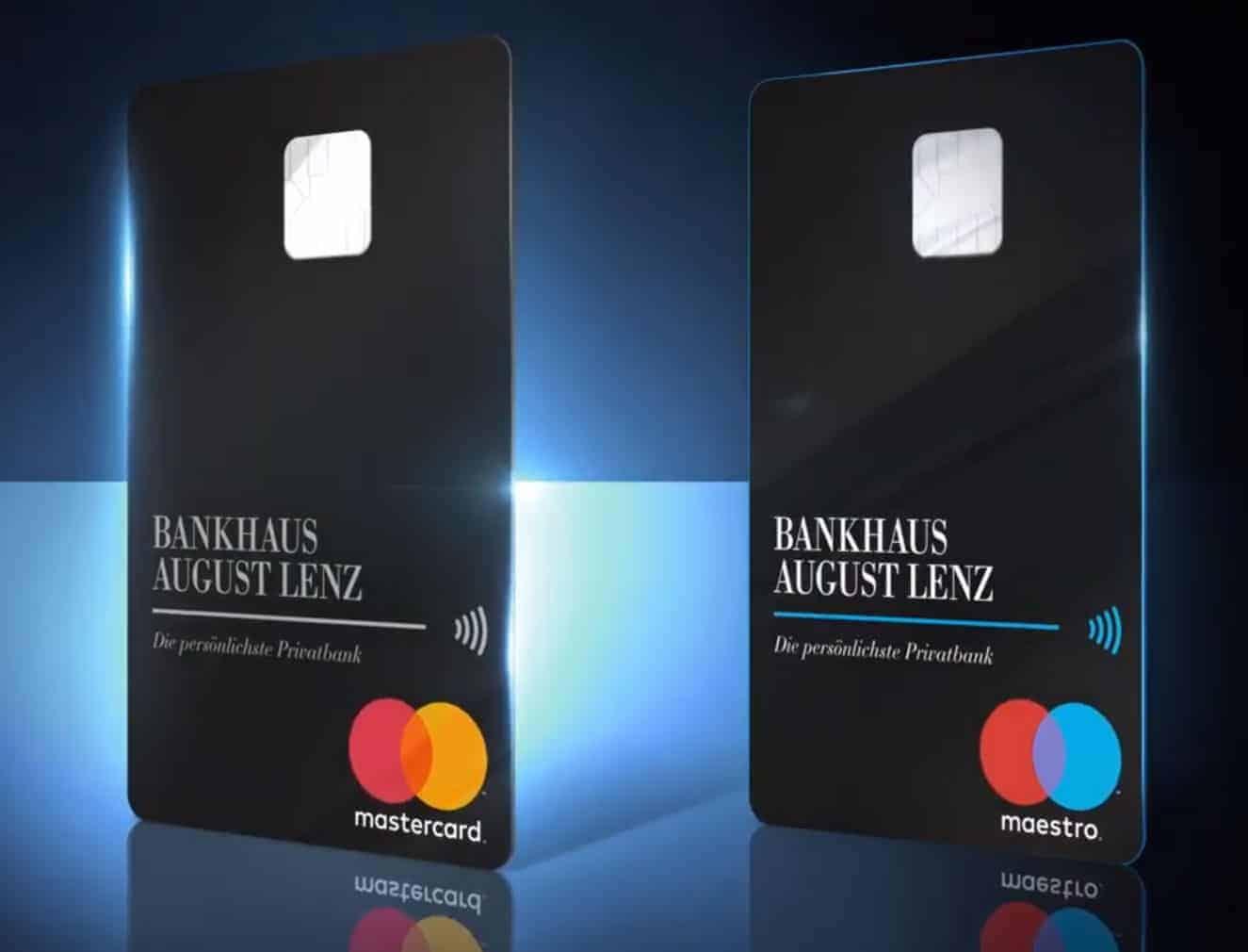 Hochkant Kreditkarte und Bankkarte