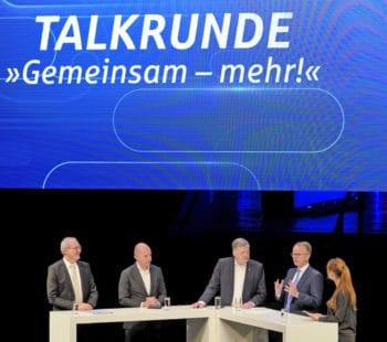 Talkrunde zu den Chancen einer engeren Zusammenarbeit im Verbund