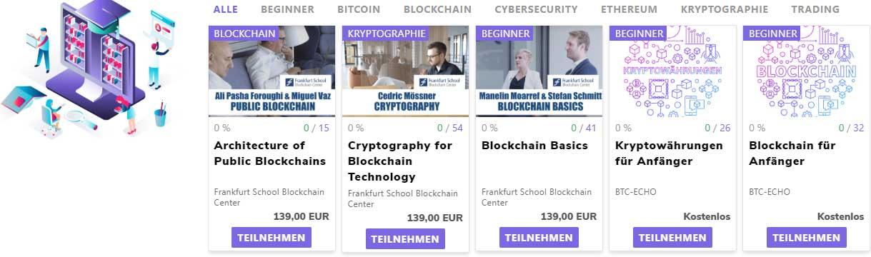 Die Blockchain Kurse - mache kostenlos