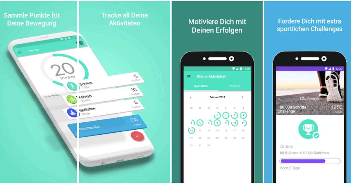 Fitness-App für Versicherer
