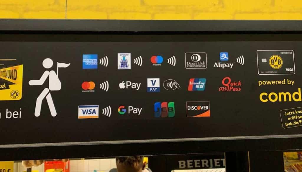 Zahlungsmöglichkeiten im BVB Stadion