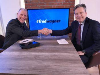 Professor Dr. Fred Wagner (links) und Jörg Arnold zu Gast, CEO von Swiss Life