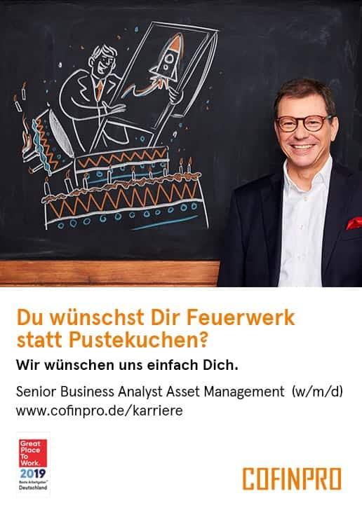 Stellenanzeige: Senior Business Analyst Asset Management (w/m/d)